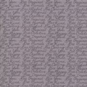 Moda - Bee Joyful - 6506 - Script on Grey, Bee Phrases - 19876 15 - Cotton Fabric